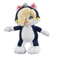 prenses rosalina peluş toptan satış-Yeni Papatya Rosalina Prenses Kedi Mar Bros Yumuşak Oyuncak Peluş Bebek Koleksiyonu İçin Çocuk Tatil En Hediye 8inc 20cm