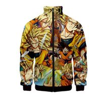 Wholesale japanese hot clothes resale online - DRAGON BALL D Zipper Men Japanese Anime Pullover Jackets New Hot Sale Cool Harajuku Hoodie Sweatshirt Hip Hop Clothe Plus size