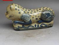 Wholesale new hand pole for sale - Group buy Antique porcelain Jingdezhen porcelain ceramics enamel blue and white cat porcelain pillow hand pulse pillow ornaments