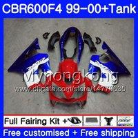 99 honda cbr f4 carenados al por mayor-Cuerpo + Tanque para HONDA CBR 600 F4 FS CBR 600F4 CBR600F4 99 00 287HM.27 CBR600FS stock marco azul CBR600 F 4 CBR600 F4 1999 2000 kit carenado