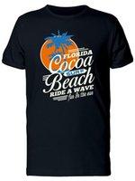 ingrosso palme sole-Blue Palms On Orange Sun Florida T-shirt da uomo -Immagine di Shutterstock Design Style New Fashion Manica corta
