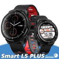 Wholesale ip68 smart watch online – Men Smart watch L5 plus L3 IP68 waterproof full touch screen long standby Smartwatch Heart Rate Weather PK B57 P80 P70