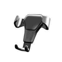 rackhalterung großhandel-Ein Stück Schwerkraft Auto Handyhalter für iPhone XS X 8Plus 7Plus Samsung Auto Mount Handyhalter Ständer für Geschenk