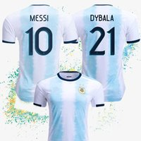 ingrosso nuove case in vendita-La nuova maglia da calcio Argentina 2019 Maglia da calcio casalinga Argentina # MESSI #DYBALA maglia da calcio. Vendita speciale
