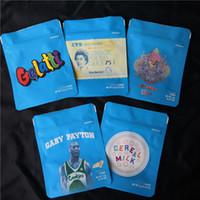 toz boyalı alüminyum toptan satış-COOKIES California SF 8th 3.5g Mylar Çocukların Açamayacağı Çanta 420 Paketleme Gelatti Tahıl Sütü Gary Payton Kurabiye Çanta boyutu 3.5g-1/8 Çanta