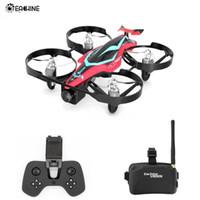 Wholesale 5.8g fpv camera drones for sale - Group buy Eachine E013 Plus Micro FPV Racing Drone Anti Turtle Mode w G CH TVL Camera VR006 Goggles T191202