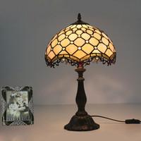 Perlas Arte de Creativa Amarillas Vidrieras de de Comedor Mesa cabecera Lámpara Europeas para de Lámpara Decoración Dormitorio Lámpara de Pulgadas 12 0wXPk8nO