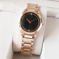 cristais de quartzo livres venda por atacado-Novo famoso luxo cristal dial pulseira de relógio de pulso de quartzo presente de natal para senhoras mulheres ouro rosa de prata de ouro atacado frete grátis