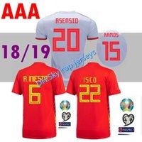 büyük boy formalar toptan satış-En büyük boy S-4XL 2018 İspanya dünya kupası futbol forması Ev PIKA MORATA 18 19 milli takım ASENSIO ISCO SILVA camiseta de futboll gömlek