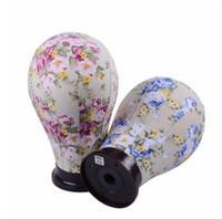 dantelli toupee toptan satış-Şekillendirme Cap Ekran Standı Yapımı Saç Uzatma Peruk Dantel Peruk için 22/23 İnç Tuval Mantar Blok Mankeni Manken Baş Modeli
