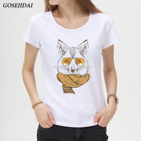Wholesale white shirt scarf resale online - Newest fashion scarf squirrel design t shirt summer Girls women cool squirrel printed t shirt short sleeve casual lady tops A09