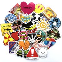 Wholesale bike hands resale online - 100 bag Mixed Car Stickers Hand account Cartoon For Skateboard Laptop Pad Bicycle Motorcycle Helmet Bike Cup PS4 Phone Decal Pvc Sticker