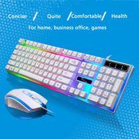 teclado leopardo al por mayor-Durable Keyboard Home G21 Juego de ratones Juego de teclado flotante Accesorios para perseguir a Leopard