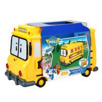 ônibus de brinquedos venda por atacado-Armazenamento Bus Silverlit Poli Escola Caso Robocar POLI portáteis Crianças estáticos Brinquedos Armazenamento Bus Car Dessin Animé Poli Gift Box 3-6T 04