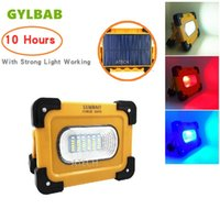 Wholesale battery solar usb mah online – GYLBAB w solar Led Portable Spotlight power bank Work USB Rechargeable Lantern Flash lamp mah hours magnetic