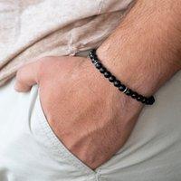 Wholesale fashion bijoux for sale - New arrival Fashion bracelet men Simple mm Stone Bead Bracelets Classic Charm erkek bileklik pulseras hombre Jewelry bijoux