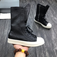Wholesale red bottom heel boots women for sale - Group buy Classic Genuine Leather Ankle Boots Men Slip On Red Bottom Roadie Flat Man Ankle Boots Women Luxury Designer Outdoor Walking EU35