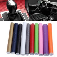 Wholesale purple car parts resale online - Car Waterproof Styling DIY Stickers D Carbon Fiber Vinyl Wrap Sheet Roll Film Tuning Part Stickers for Motorcycle Automobiles Accessories