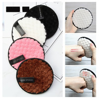 Microfiber Cloth Pads Facial Makeup Remover Puff Cotton Double layer Face Cleansing Towel Reusable Nail Art Cleaning Wipe J1546
