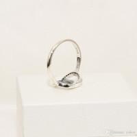 neue sterling silber ringe großhandel-NEUE Frauen Neue Mode CZ Diamant Hochzeit RING Set Original Box für Pandora 925 Sterling Silber Ringe Geschenk Schmuck