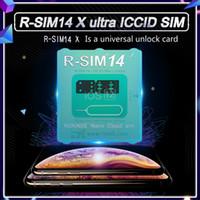 4g carte micro sim achat en gros de-2019 dernière carte de déverrouillage iccid R-Sim14 pour iphone8 7 6 iphone xs max xr x iOS 12.x-7.x 4G déverrouiller R-Sim 14