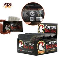 ingrosso atomizzatore di cotone biologico-Cotton Bacon Prime Organic Gold version Per fai da te RDA RTA RTA Ricostruisci Wire Vape Cotton atomizzatori Riscaldamento Coil Wire Vaporizzatori