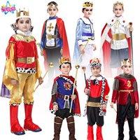 ingrosso figlio del costume del re-Vacanze Cosplay bambini uomo Costume principe per bambini The King Costumi Bambini Day Boys Fantasia Abbigliamento da re europeo