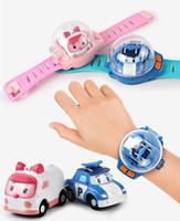 os relógios vibram venda por atacado-Mini Relógio de Controle Remoto Modelo de Brinquedo de Carro RC Crianças Catapulta Carro Vibratório Brinquedos Educativos Dia das crianças Para Crianças Meninos
