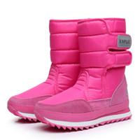 ingrosso scarpa da neve ispessente impermeabile-ENPLEI scarponi da neve Autunno e inverno donna stivali peluche caldo cotone scarpe donna ispessimento impermeabile 35-42 donne