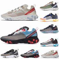 zapatillas ligeras al por mayor-React Element 87 Undercover Men Running Shoes For Women Designer Sneakers Sports Mens Trainer Shoes Sail Light Bone Royal Tint 5