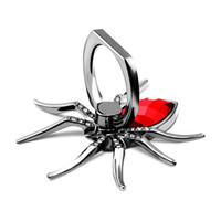 Wholesale black spider ring for sale - Group buy Spider Metal Finger Ring Mobile Phone Stand Holder Bracket