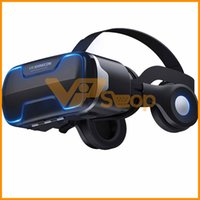 Wholesale VR Shinecon G02ED Earphone Headset Stereo D Virtual Reality Glass Smartphone VR Box For Android IOS Samsung iPhone Cellphone