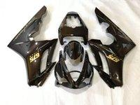 ingrosso i kit di abbinamento trionfale-Kit corpo carenatura iniezione per Triumph Daytona 675 05 06 07 08 DAYTONA675 2005 2008 ABS Carenatura carrozzeria nera + regali GS25