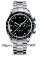 cronógrafo reloj luna al por mayor-Moon Black Dial Vintage Steel Reloj para hombre 3570.50.00 Planet Ocean Professional Sin cronógrafo Relojes automáticos para hombre