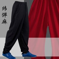 Wholesale yoga tai chi for sale - Group buy High Quality Tai chi Pants Bloomers Wushu Martial arts Wing Chun Clothing Training Trousers Yoga Pants Acrobatics