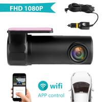 versteckte bewegung video großhandel-WIFI Auto DVR Kamera Digital Registrar Video Recorder Versteckte DashCam Auto Camcorder Wireless APP Monitor 1080P Nachtsicht