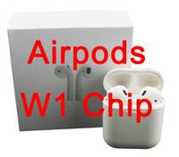 auriculares al por mayor-Animación que muestra Supercopied W1 Chip Bluetooth doble auricular para Airpods Auricular Control de voz táctil Calidad de sonido superior Batería de alto nivel