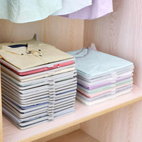 schrankteiler groihandel-Kleidung Organizer T-shirts Folding Board Schreibtisch Aktenschrank Koffer Regal Teiler System Schrank Schublade Organizat