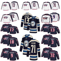 Wholesale 71 jersey for sale - Group buy Columbus Blue Jackets Jersey Cam Atkinson Seth Jones Nick Foligno Pierre Luc Dubois Brandon Dubinsky Hockey Jerseys Stitched