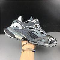 zapatillas actualizadas al por mayor-2019 París 4.0 Pista s Triple s de lujo torpe zapatillas Diseñador actualización de la versión para hombre de las zapatillas de deporte Mujeres que corren con la caja