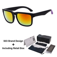 radfahren sonnenbrille spiegel großhandel-Heißer verkauf billige sonnenbrille für männer sport radfahren desinger sonnenbrille blenden farbe spiegel gläser 18 farben mit kleinkasten