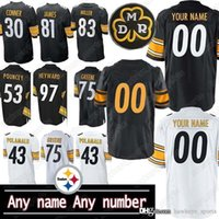 Wholesale steeler jerseys resale online - Pittsburgh custom Steeler jerseys patch American football James Conner Juju Smith Schuster Joe Greene men custom shirt