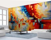 Wholesale wallpapers abstract resale online - European Abstract Oil Painting Mural Creative D Wall Paper D Contact Paper for Bedroom Wall Papers Canvas Wallpaper