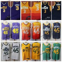2019 Earned Utah  45 Edition Donovan Mitchell Rubio Rudy Gobert Basketball  Jerseys Cheap Rubio City Yellow Stitched Shirts S-XXL 1448161d1