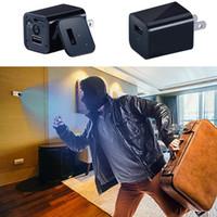 spy camera оптовых-Новый США/ЕС разъем мини скрытая шпионская камера зарядное устройство обнаружения движения домашней безопасности мода новый мини шпионская камера зарядное устройство