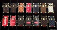 kordon için telefon çantası toptan satış-Lüks baskı mektuplar marka telefon kılıfı iphone X xs xr xs max 6 6 artı 6 S 7 7 artı 8 8 artı TPU silikon yumuşak kabuk ile kordon