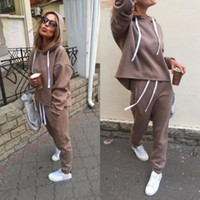XUANCOOL Autumn Winter Irregular Solid Women's Outfits Long Sleeve Hoodies and Long Pants Two Piece Set Fitness Tracksuit1