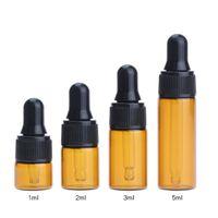 Wholesale screws for eye glasses resale online - Amber Glass Bottle With Glass Eye Dropper ml ml ml ml Essential Oil Vial For E Liquid