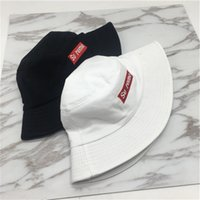 Wholesale mens fashion bucket hats resale online - Unisex Sup Letter Printed Embroidery Bucket Hat Summer Sun Hats Mens Designer Hats Trucker Hat Fashion Brand Baseball Cap Fitted Hat C61208