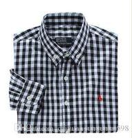 camisas de vestir oxford para hombre al por mayor-Nueva moda pequeño caballo Oxford camisas de los hombres de manga larga para hombre camisas de vestir de alta calidad para hombre camisas de negocios polo Chemise Homme 7045